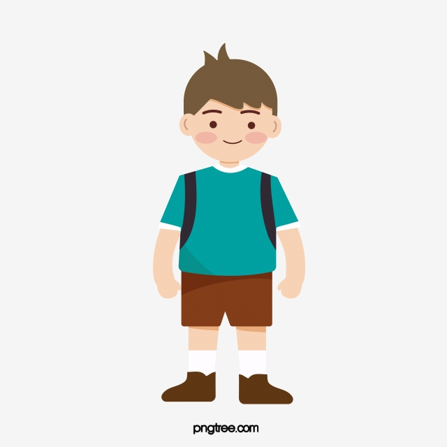 Hand Painted Boy Student Clipart, Clip Art, Lovely, Student PNG and.