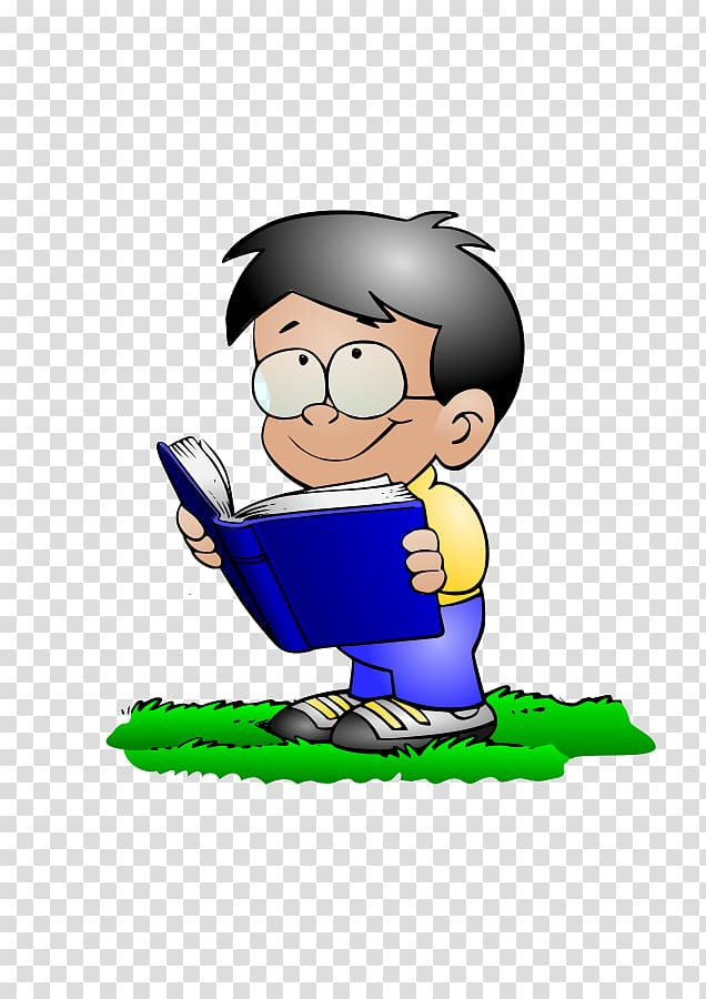 Reading Boy Book , Girl Studying transparent background PNG.