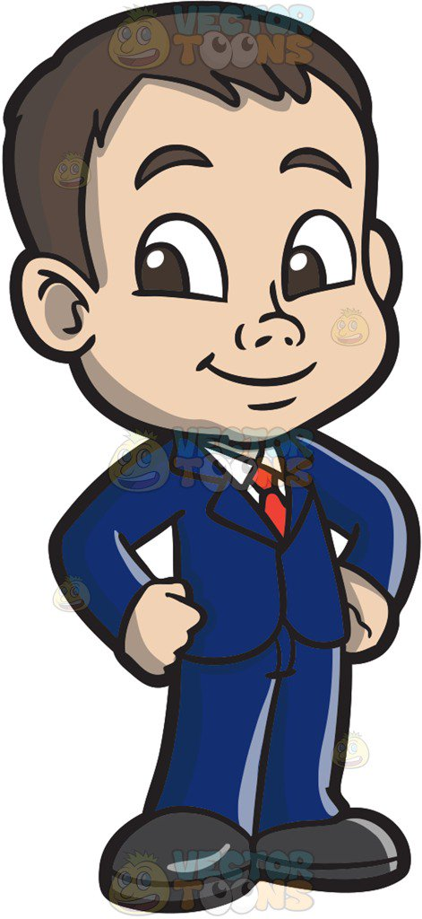 Boy With Suit Clipart.