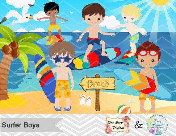 Digital Surfer Boy Clip Art, Instant Download Surfing Boy Clipart, Summer  Beach Party Clipart, Surf Digital Clipart, Boy Surfer Clipart 0165.