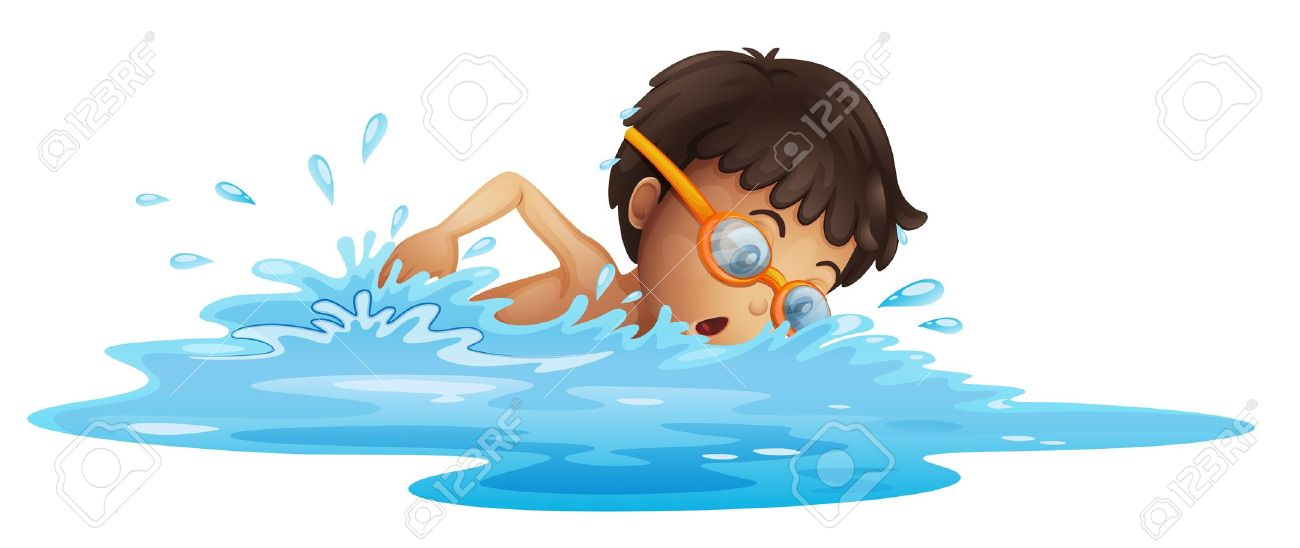 Boy Swim Clipart.