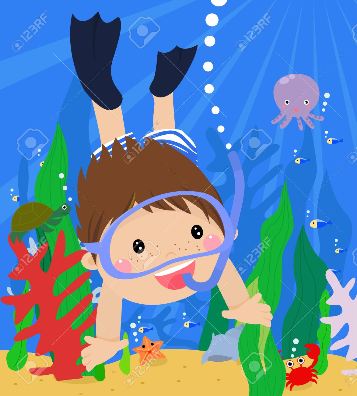 833 Swimmer Underwater Stock Vector Illustration And Royalty Free.