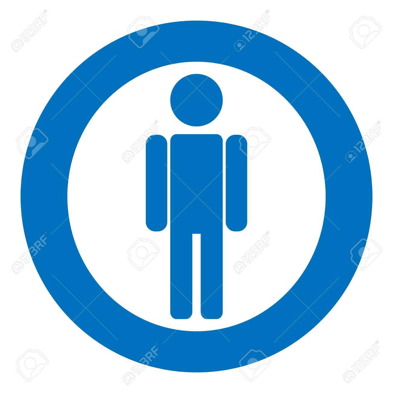 Gender icon symbol. Male boy man icon. Blue vector symbol..