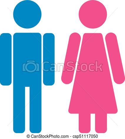 Gender symbol set. Male Female girl boy woman man vector icon..