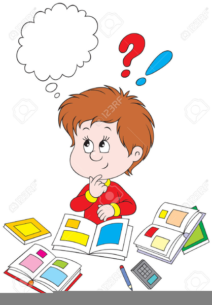 Free Clipart Of A Child Thinking.