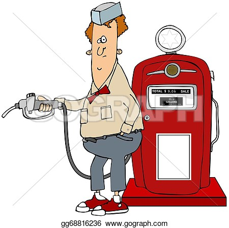Gas Boy Clipart Red.
