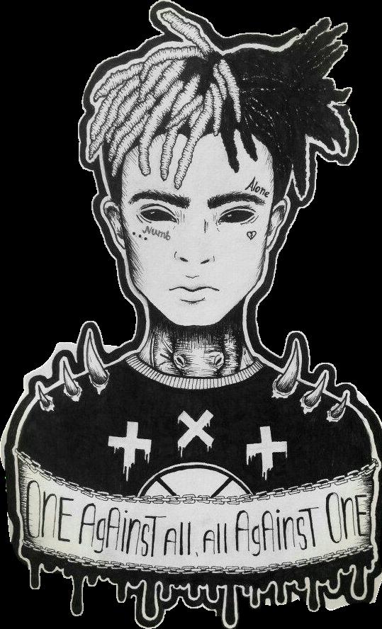 HD #tumblr #xxxtentacion #sticker #boy #tumblrboy #blackandwhite.