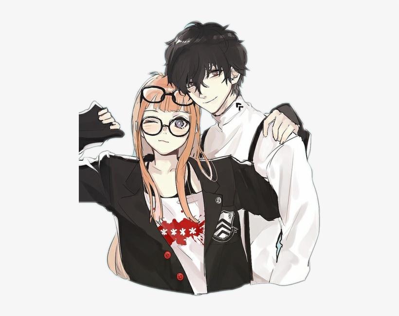 Anime Girl Tumblr Boy Love Glasses.