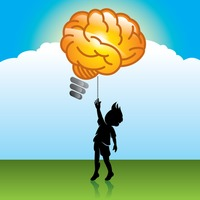 Shape Shapes Concept Concepts Brain Brains Balloon Balloons Boy.