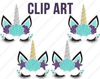 Boy Unicorn face clipart, Glitter Boy Unicorn, floral Horn Clipart.