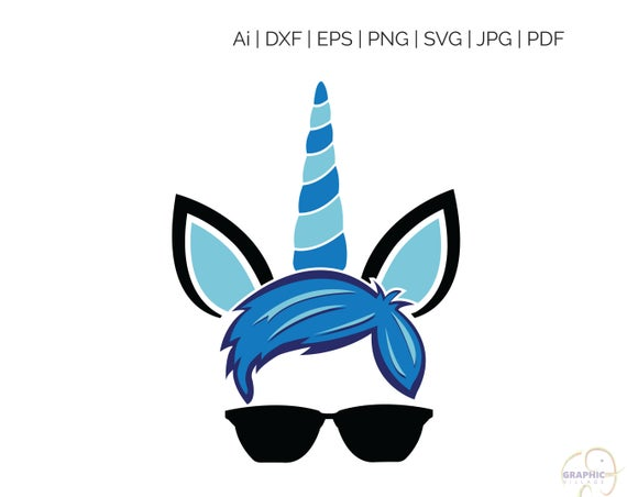 unicorn boy SVG, Silhouette and Cricut Cut Cutting file, svg file, unicorn  svg, boy unicorn clipart, svg file for cricut, svg for silhouette.