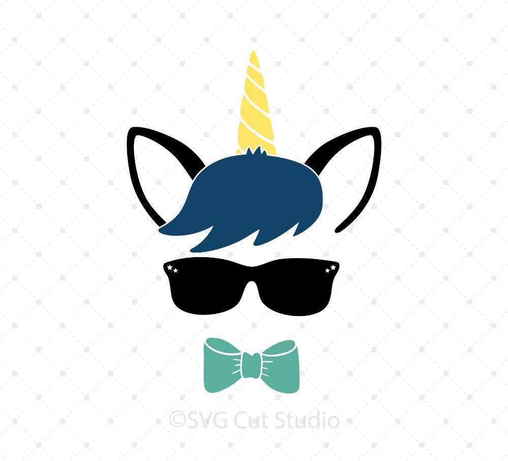 Unicorn Boy SVG Cut Files.