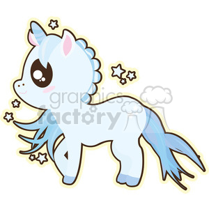 cartoon Unicorn Boy illustration clip art image clipart. Royalty.