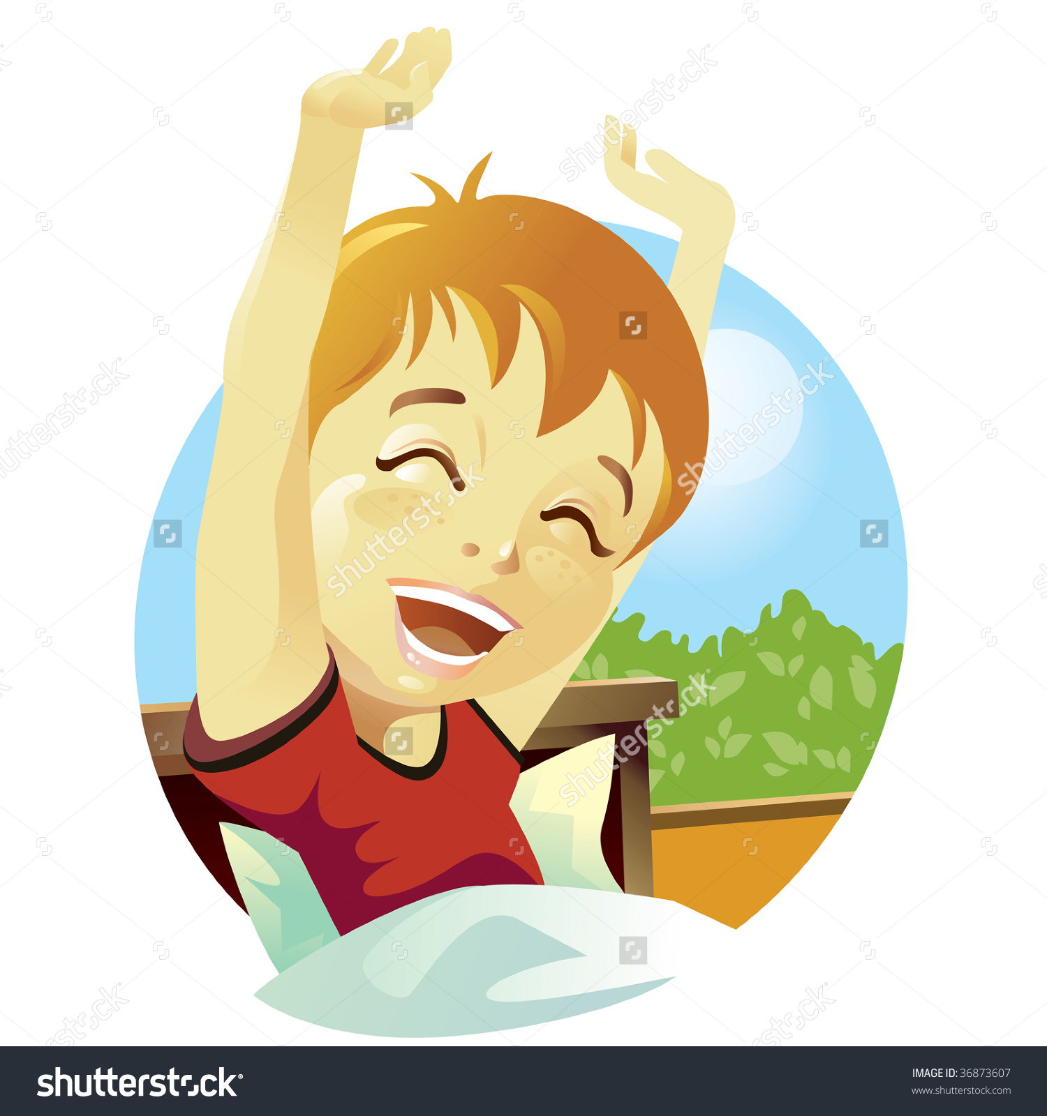 Boy Waking Up Clipart (49 ).