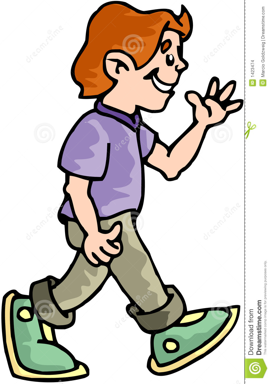 boy walking backwards clipart - Clipground