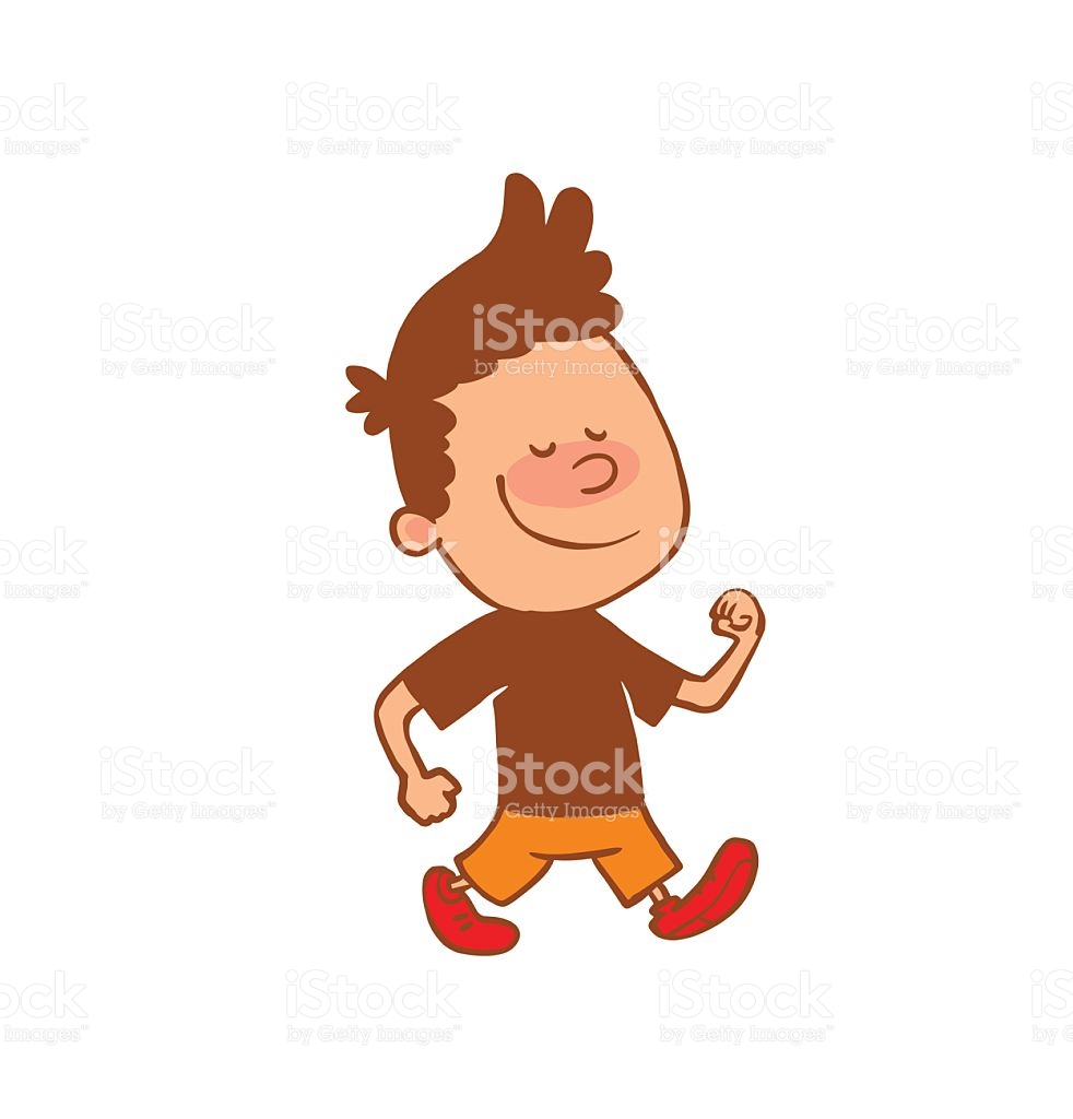Boy walking clipart 6 » Clipart Station.