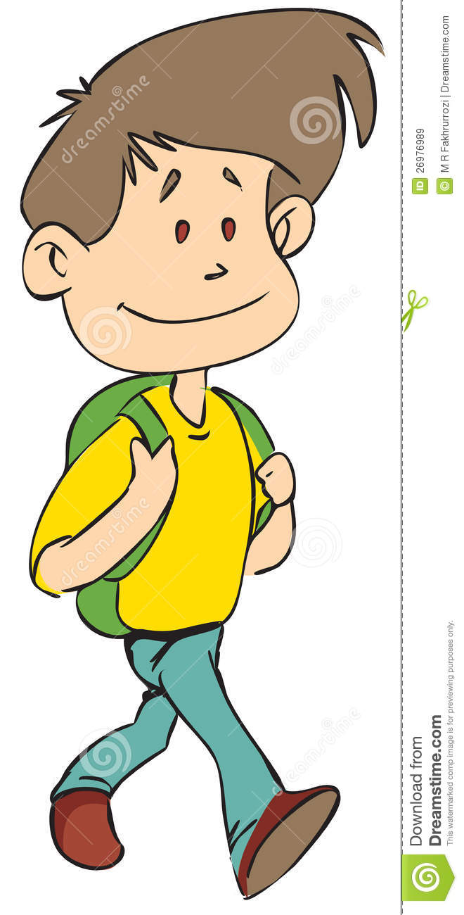 Boy walking clipart 4 » Clipart Station.