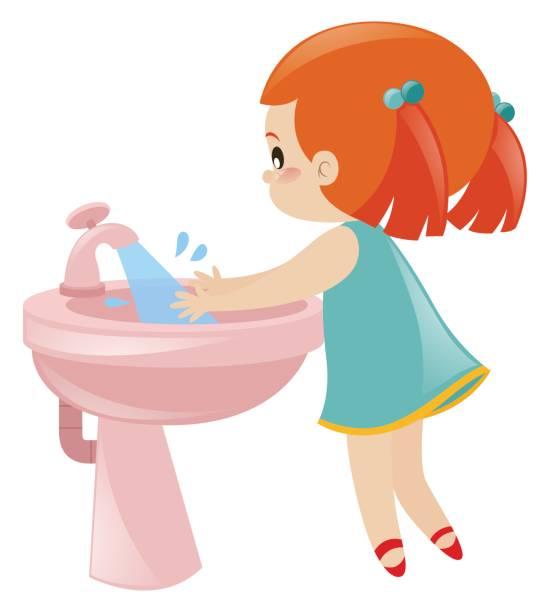 Best Kids Washing Hands Illustrations, Royalty.