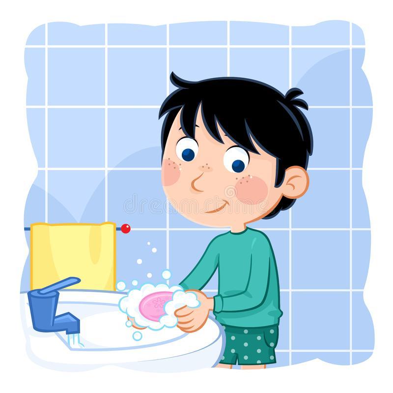 Hands Washing Stock Illustrations.