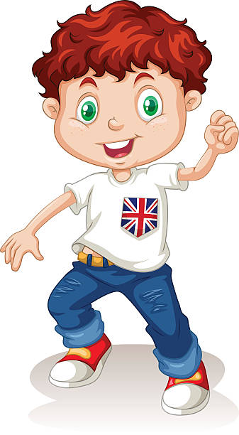 Clip Art Of Boy In Jeans Clip Art, Vector Images & Illustrations.