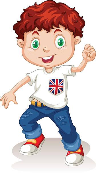 Clip Art Of Boy In Jeans Clip Art, Vector Images & Illustrations.