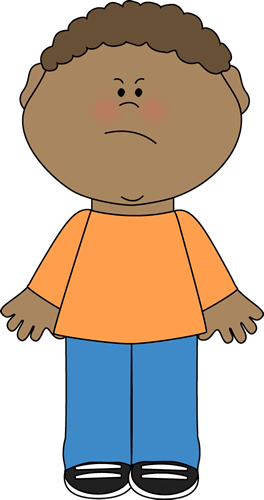 Angry Boy Clip Art.