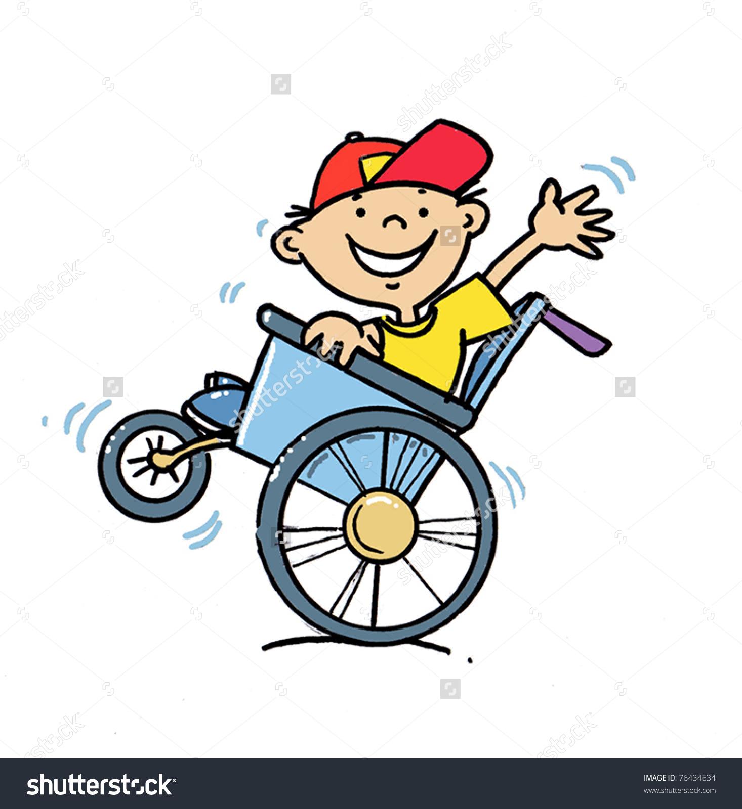 Boy In Wheelchair Clipart.