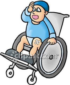 Kid in a Wheelchair Clip Art.