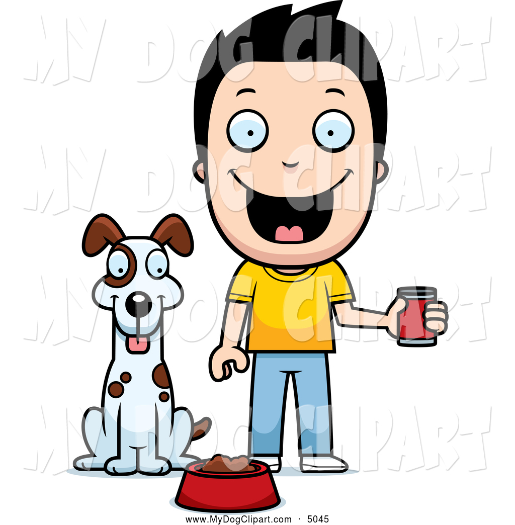 Showing post & media for Little boy feeding dog cartoon.