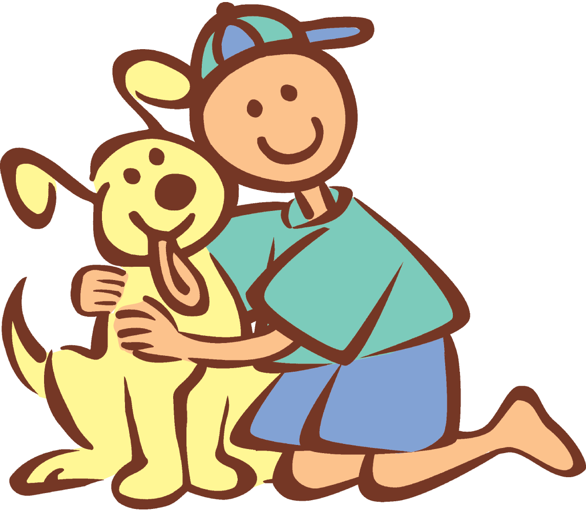 Showing post & media for Boy hugging dog cartoon.