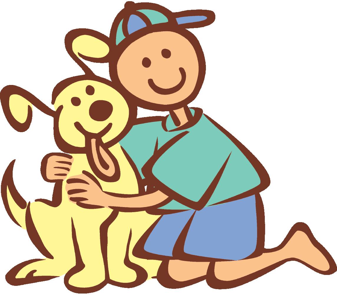 Showing post & media for Boy hugging dog cartoon.