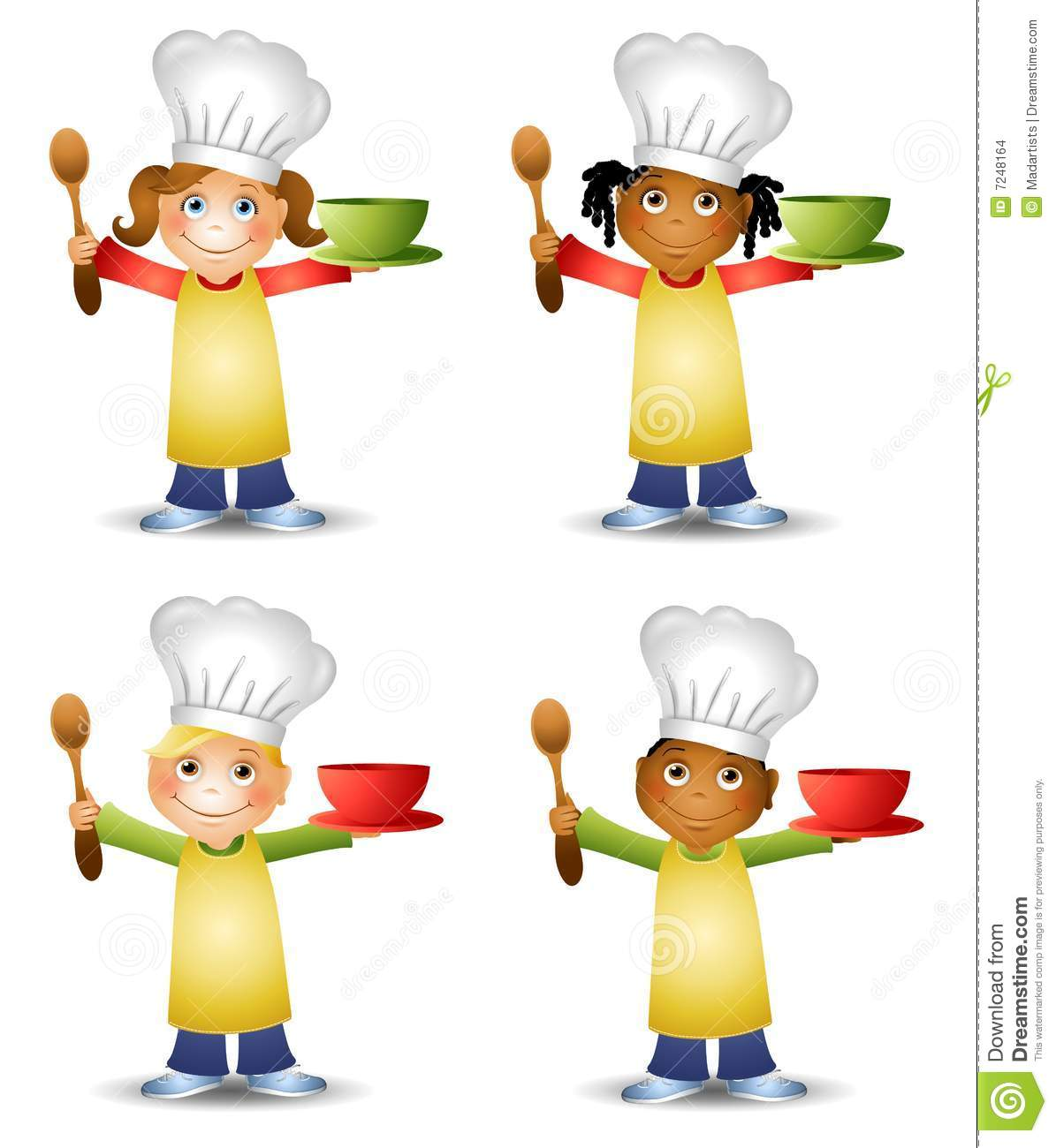 Kids In Chef's Hats Stock Images.