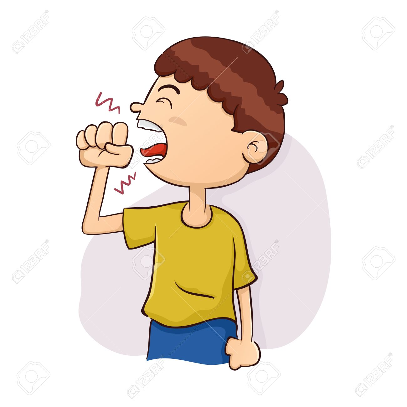 Coughing Boy With Ball Clipart & Free Clip Art Images #14764.