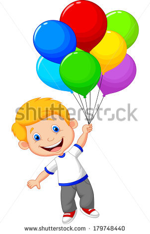 Boy With Balloon Stock Images, Royalty.