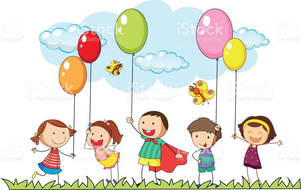 Boys And Girls In The Park stock vector art 648752972.