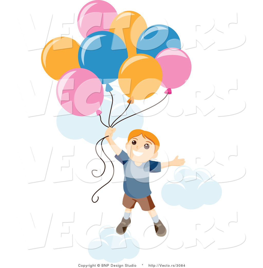 Boy With Balloon In Clipart.