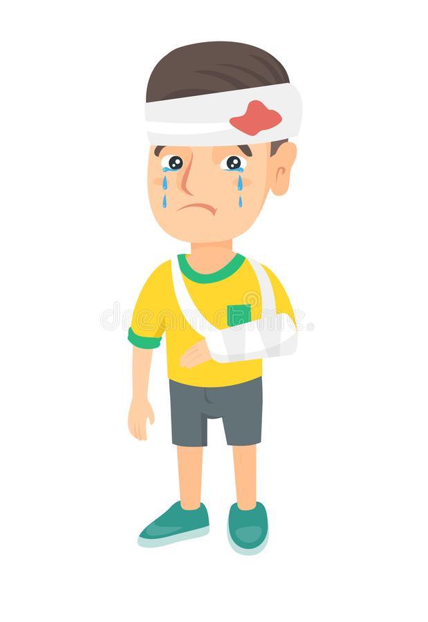Cartoon Boy Broken Arm Stock Illustrations.