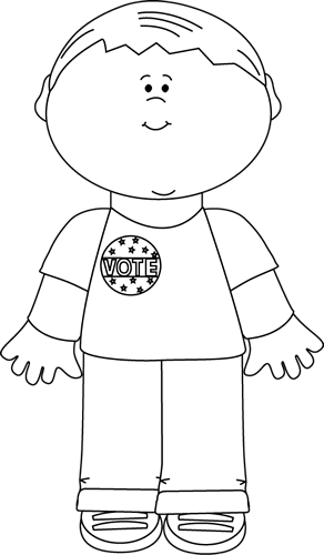 Clipart Black And White Boy.