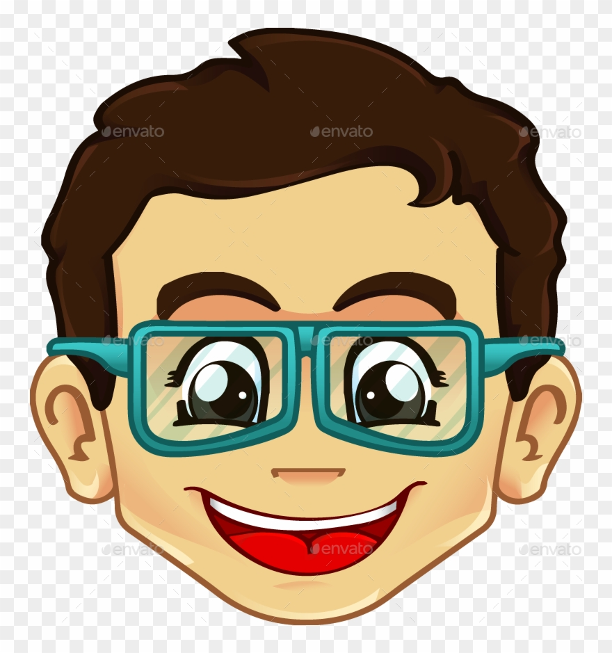 Clipart Boy With Glasses.