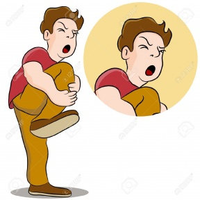 boy with knee pain clipart #17