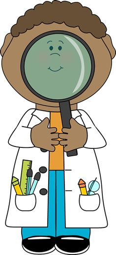Kid Scientist and Giant Magnifying Glass.