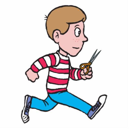 Showing post & media for Cartoon scissors running.