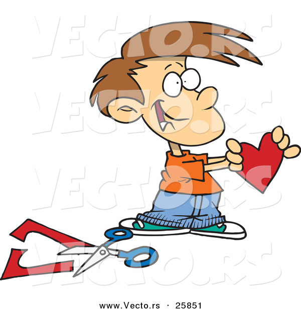 Showing post & media for Cartoon boy with scissors.