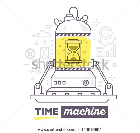 A Boy Working On A Time Machine Clipart.