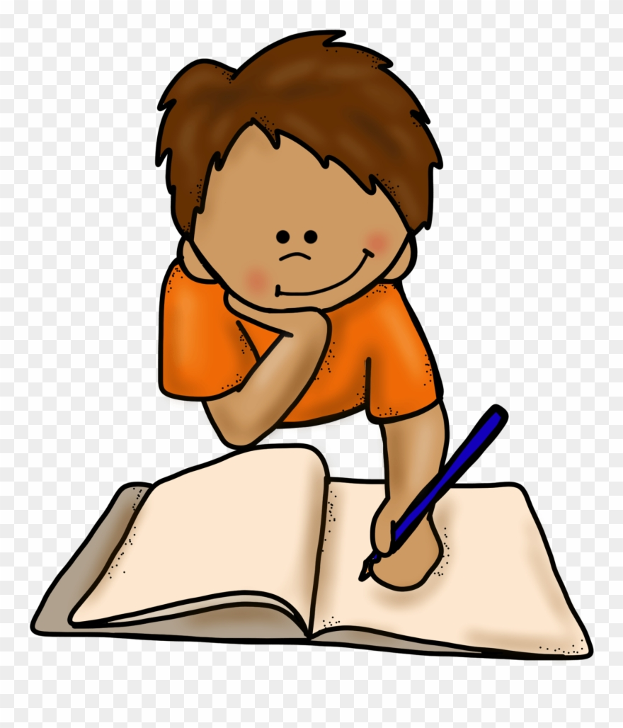 Png Library Download Boy Writing Clipart.
