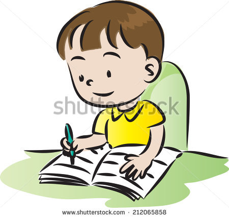 Boy Writing Stock Vectors, Images & Vector Art.