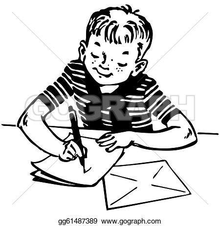 Boy Writing Clipart Black And White 20 Free Cliparts Download