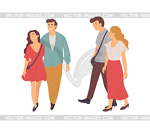 People Walking Together, Boyfriend and Girlfriend.