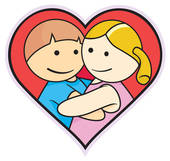Girlfriend and boyfriend clipart.