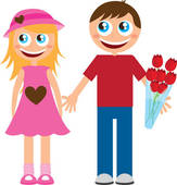 Boyfriend And Girlfriend Clipart.